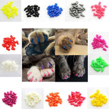 Durable 20 pcs Of Soft Colorful Nail Caps For Your Puppy Dog Care & Grooming Pet Clever