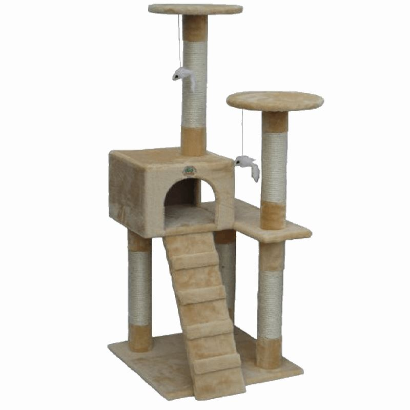 Enjoyable High Cat Post Condo Tree Scratcher Cat Trees & Scratching Posts Pet Clever