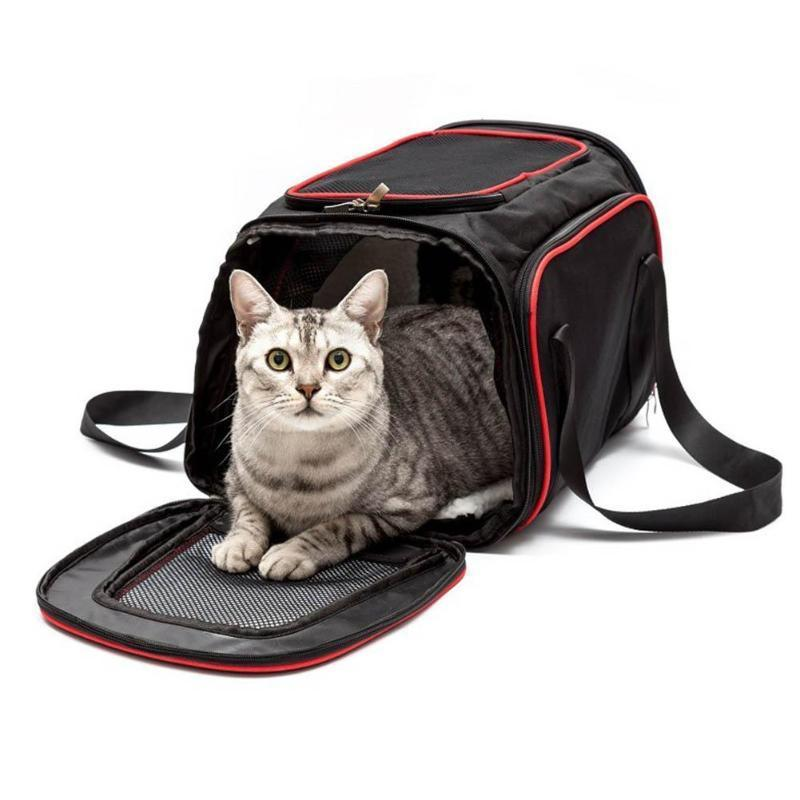Expandable Safe Carry Seat Pet Shoulder Bag Carrier Cat Carriers Pet Clever