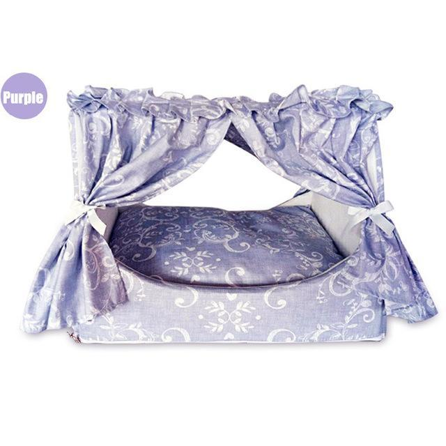 Fabulous Double Curtain Style Mat Sleeping Pad Cat Beds & Baskets Pet Clever Purple L