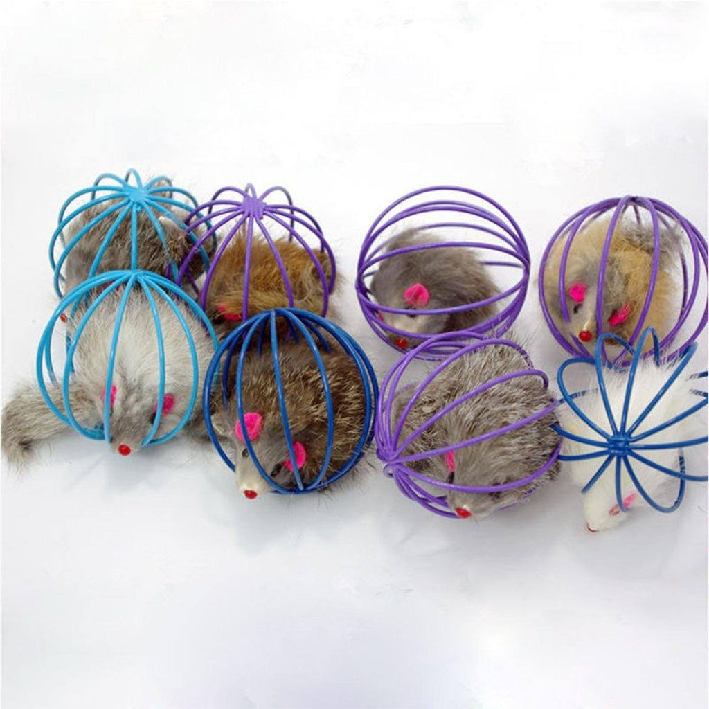 False Mouse in Rat Cage Ball Cat Toys Pet Clever