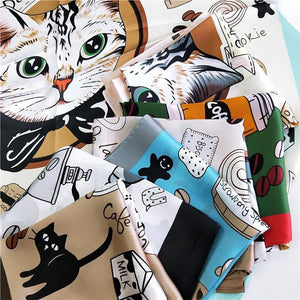 Fashionable Cat Print Scarf Cat Design Accessories Pet Clever