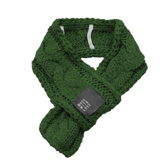 Fashionable Christmas Winter Scarf Scarfs Pet Clever Green S