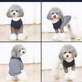 Fashionable Stripe Dog Tshirt Type Clothes Dog Clothing Pet Clever