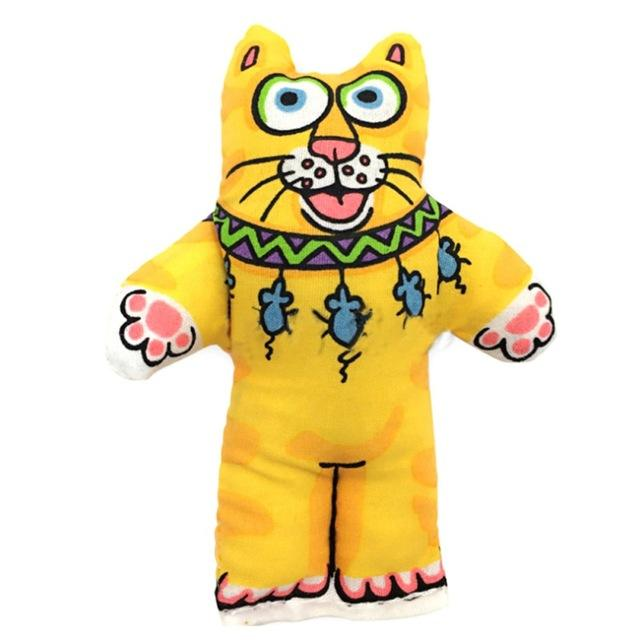 Fat Cat With Catnip Toy Cat Toys Pet Clever Yellow Cat Shape
