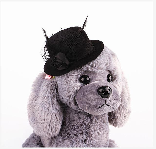 Feather Prince Style Hat For Pets Hats Pet Clever Black