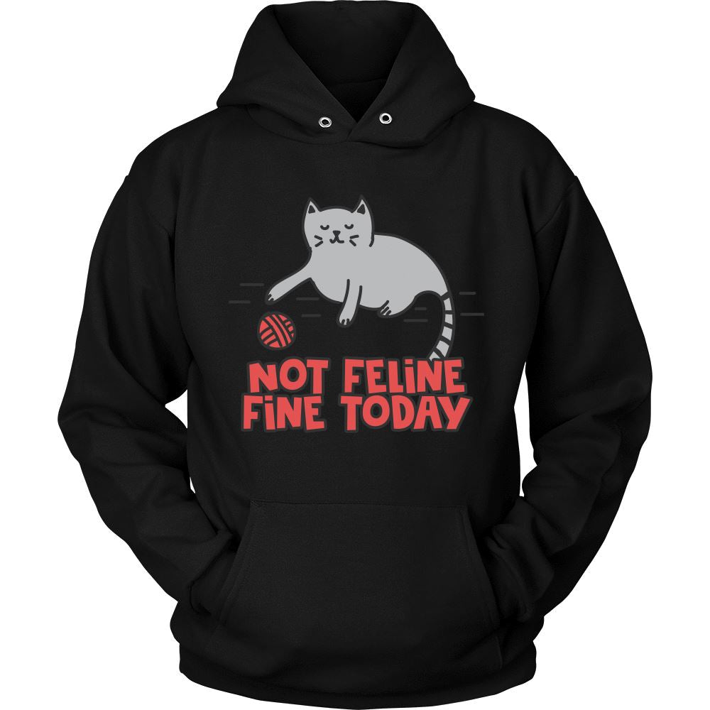 Feline it Today Cat Shirt Hoodie T-shirt teelaunch Unisex Hoodie Black S