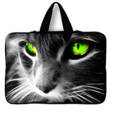Fierce Green Eyes Cat Laptop Bag Cat Design Accessories Pet Clever 7 inch