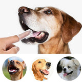 Finger Shaped Silica Gel Pet Toothbrush Toothbrush Pet Clever