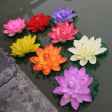 Floating Artificial Lotus Flower Fish Pond Decorations Pet Clever