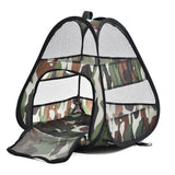 Foldable Camouflage Pattern Tent House Cat Beds & Baskets Pet Clever