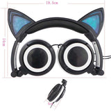 Foldable LED Flashing Cat Headset Cat Design Accessories Pet Clever
