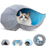 Foldable Pet Cave Dog Beds & Blankets Pet Clever Blue