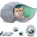 Foldable Pet Cave Dog Beds & Blankets Pet Clever Green