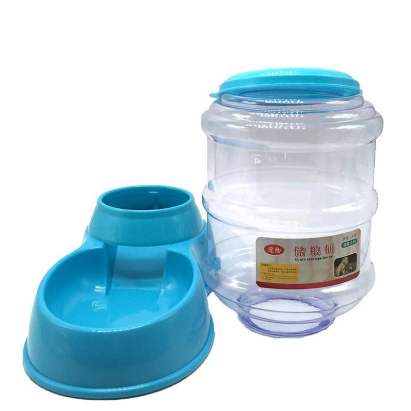 Food Bowl and Water Dispenser for 3.5L / 118.35oz Cat Bowls & Fountains Pet Clever Blue Food