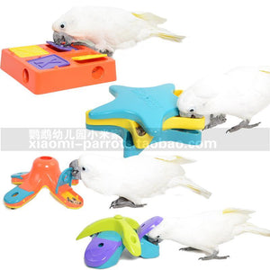 Food Treat Dispensing Interactive Game Puzzle Training Bird Toy Training Toys Pet Clever