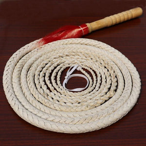 Handmade Braided Genuine Bull Leather Horse Whips Horse Whip Pet Clever