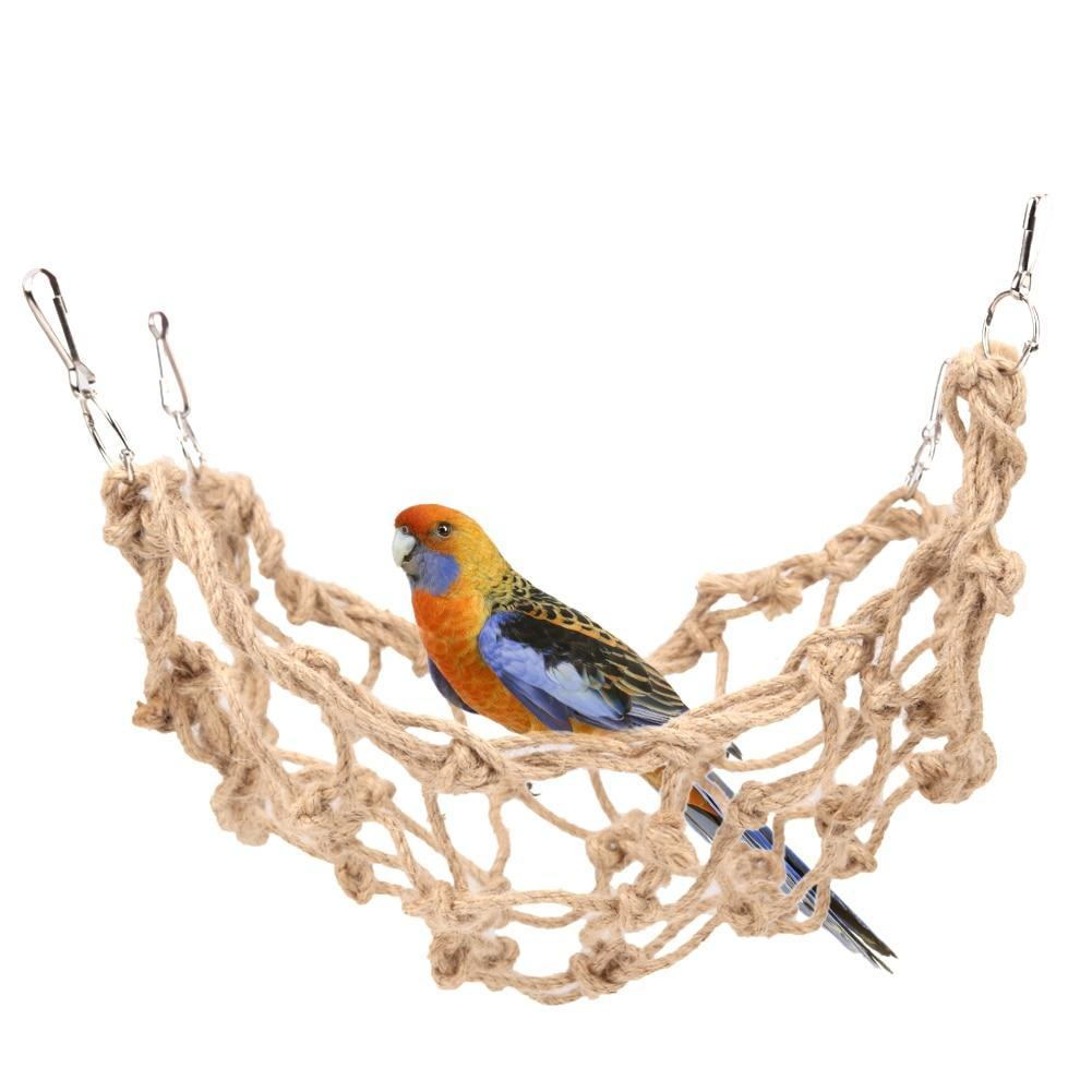Pet Hammock Braided Net Rope Hanging Cage Parrot Hamster Climbing Ladder Toys
