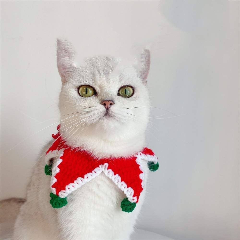 Holidays Knitted Collar Collars Pet Clever