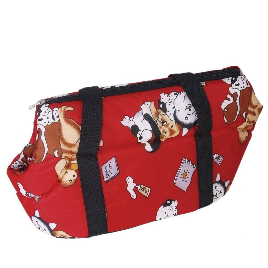 Hot Red Soft Travel Handbag Shoulder Carrier for Small Size Dog and Cat Dog Carrier & Travel Pet Clever