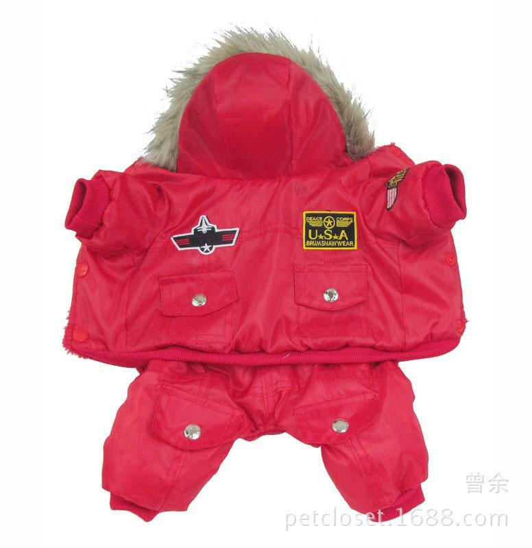 Hot Winter Warm Thick Apparel Dog Clothing Pet Clever Red S