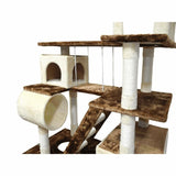 Huge 87.5inch Cat Tree Condo House Furniture Cat Trees & Scratching Posts Pet Clever