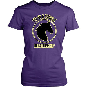 "I'm in a Stable Relationship ""Horse"" Shirt T-shirt teelaunch District Womens Shirt Black XS"
