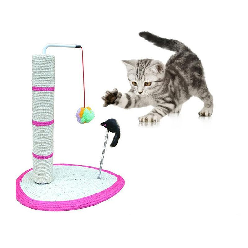 Interactive Cat Tree Climb Grinding Claws Toy With Ball Mouse Cat Trees & Scratching Posts Pet Clever