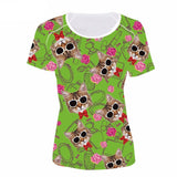 Jolly Cat Face All-Over Print Designs Cat Design T-Shirts Pet Clever