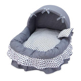 Lace Bow Cat House Bed With Small Pillow Cat Beds & Baskets Pet Clever Gray Dot L