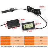 LCD Digital Thermometer Hygrometer with Probe Hygrothermograph Aquarium Thermometer Pet Clever