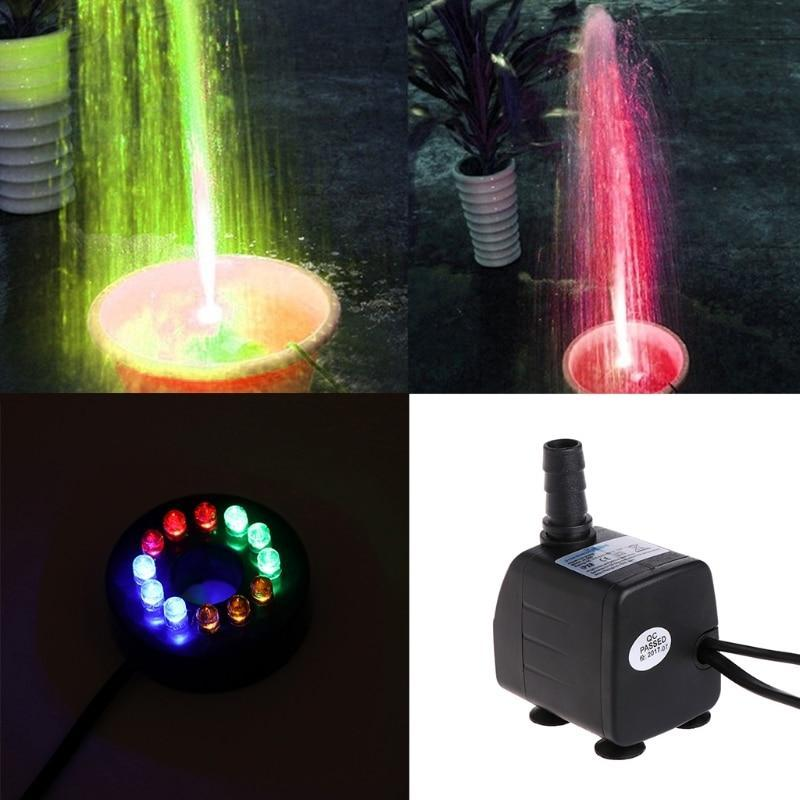 LED Light Submersible Fish Pond Waterfall Fountain Pump Fountain Pump Pet Clever