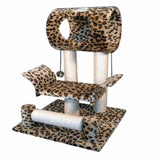 Leopard Cat Tree Condo House Cat Trees & Scratching Posts Pet Clever