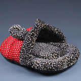 Leopard-Print Pet House Nest Bed Cat Beds & Baskets Pet Clever Red