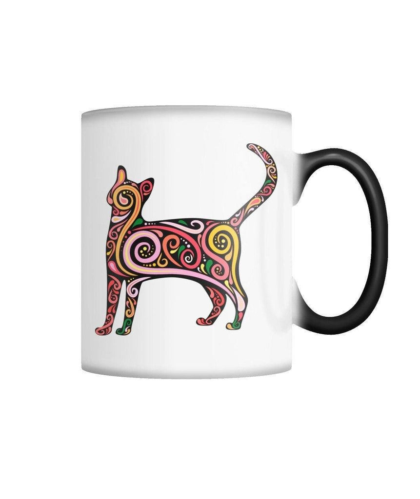 "Limited Edition ""Colorful Cat"" Color Changing Mug Non Apparel Pet Clever White M"