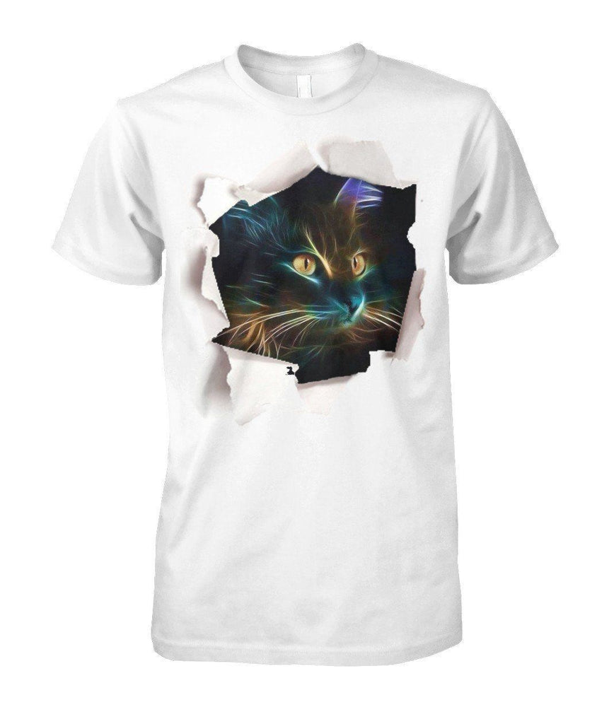 "Limited Edition Design ""Cat In a Hole"" Shirt Apparel ViralStyle White S"
