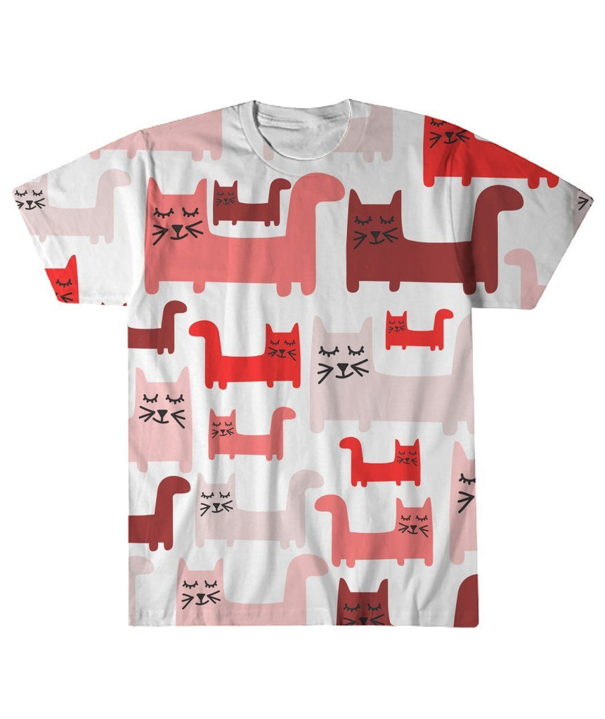 "Limited Edition ""Pattern Cat"" All-Over Print Apparel ViralStyle White S"