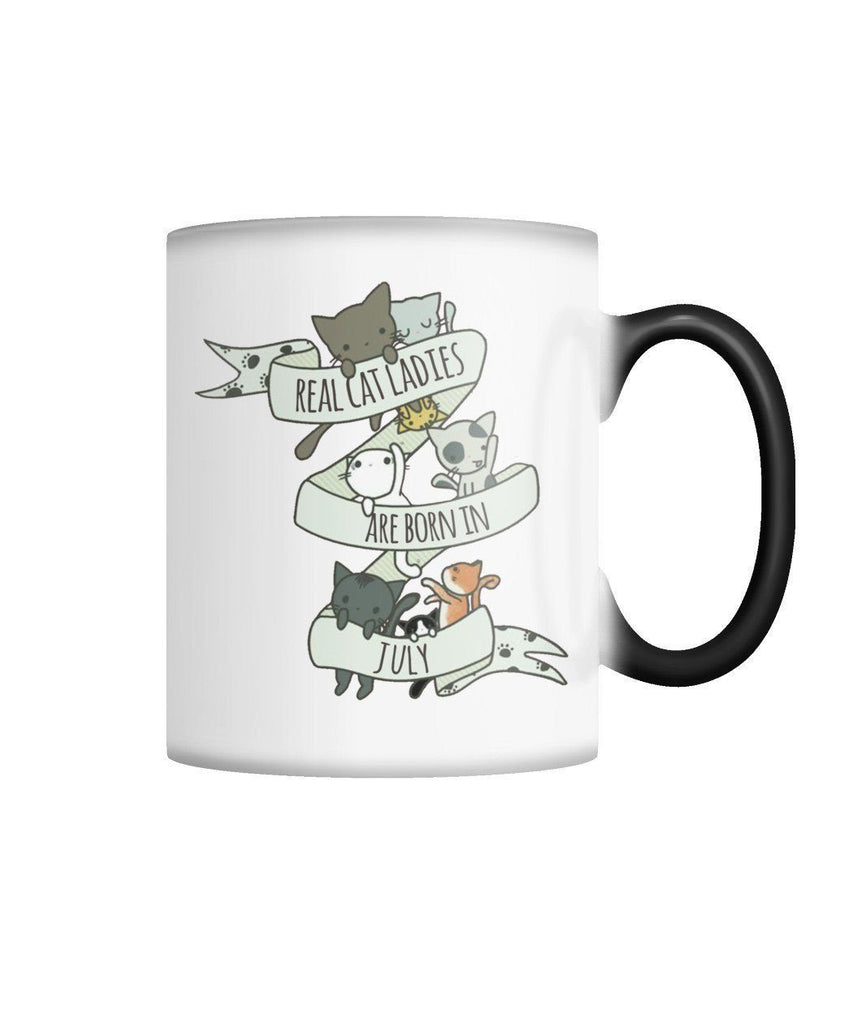 "Limited Edition ""Real Cat Ladies (July)"" Color Changing Mug Non Apparel ViralStyle White M"