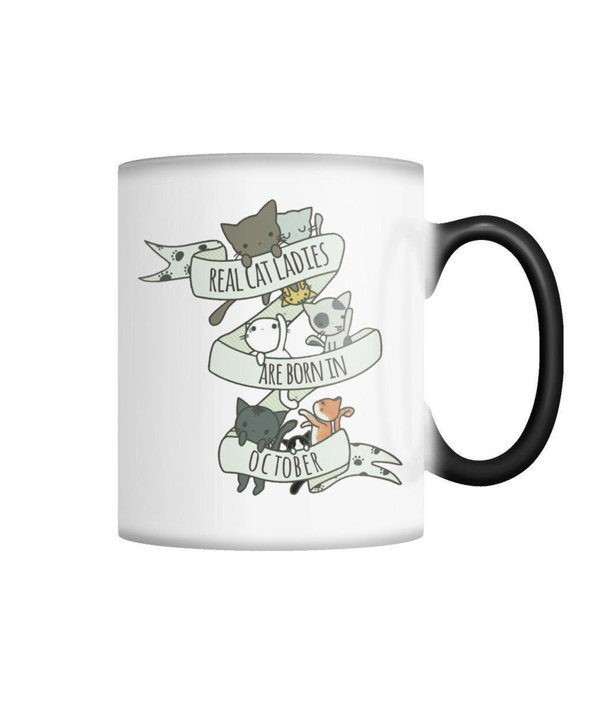 "Limited Edition ""Real Cat Ladies (October)"" Color Changing Mug Non Apparel ViralStyle White M"