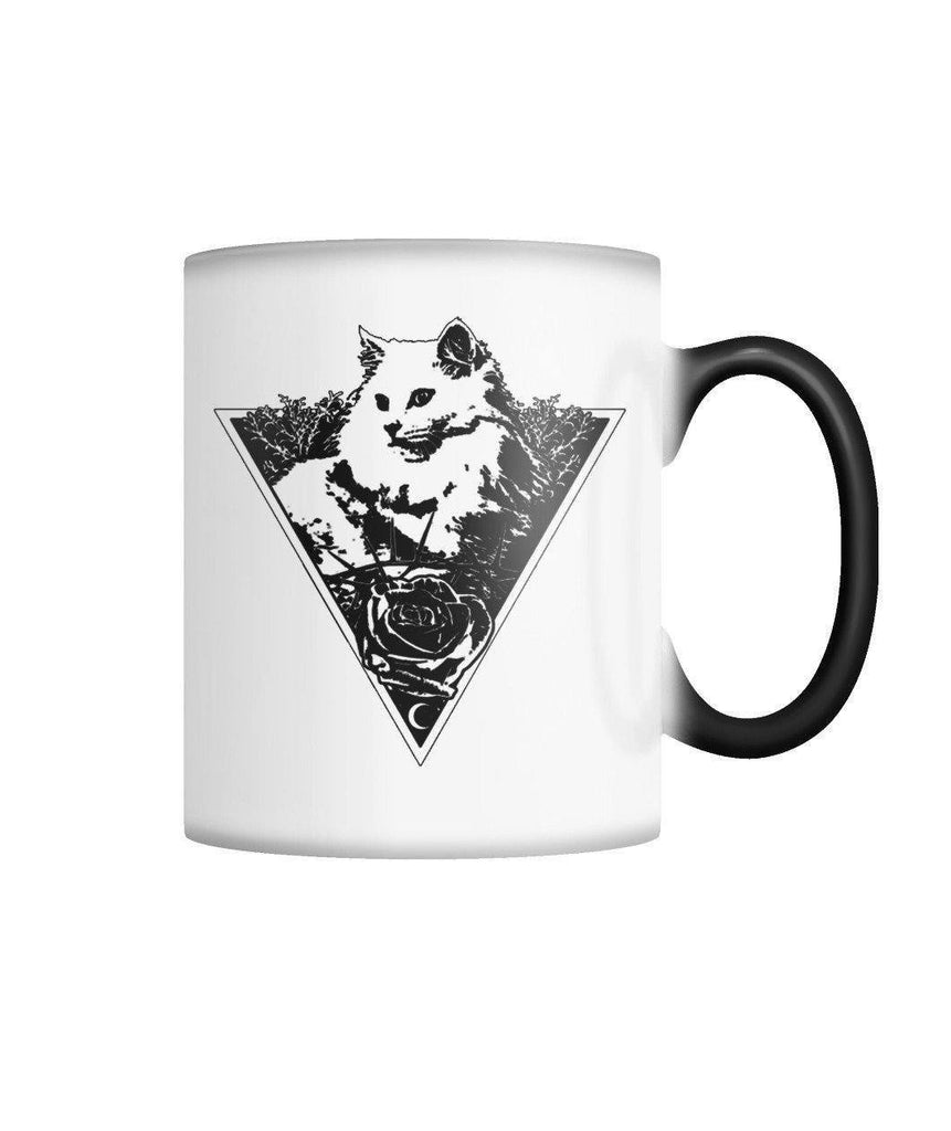 "Limited Edition ""Triangle Cat"" Color Changing Mug Non Apparel ViralStyle White M"