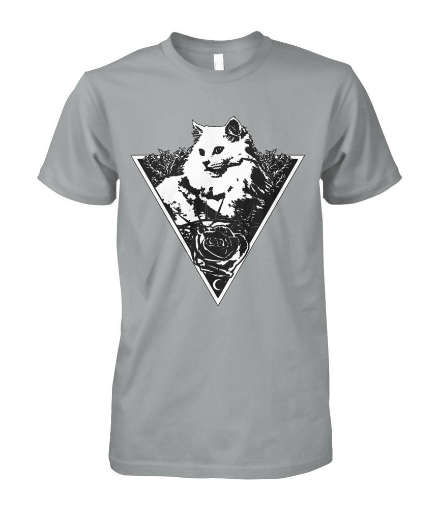 "Limited Edition ""Triangle Cat"" Shirt Apparel ViralStyle Sport Grey S"