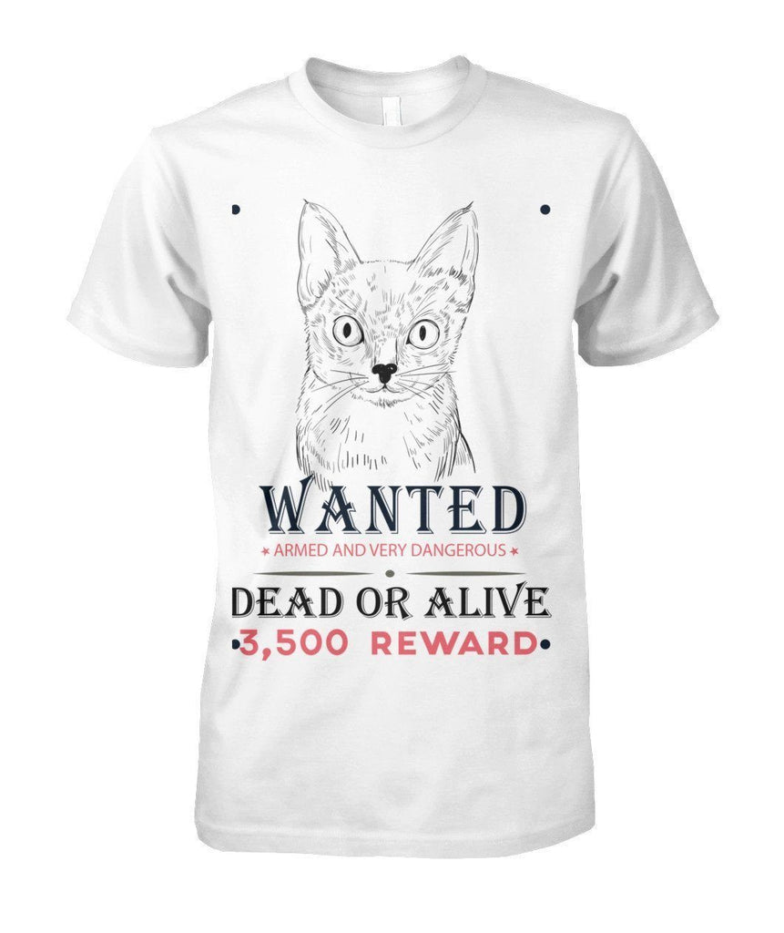 "Limited Edition ""Wanted Cat"" Shirt Apparel ViralStyle White S"