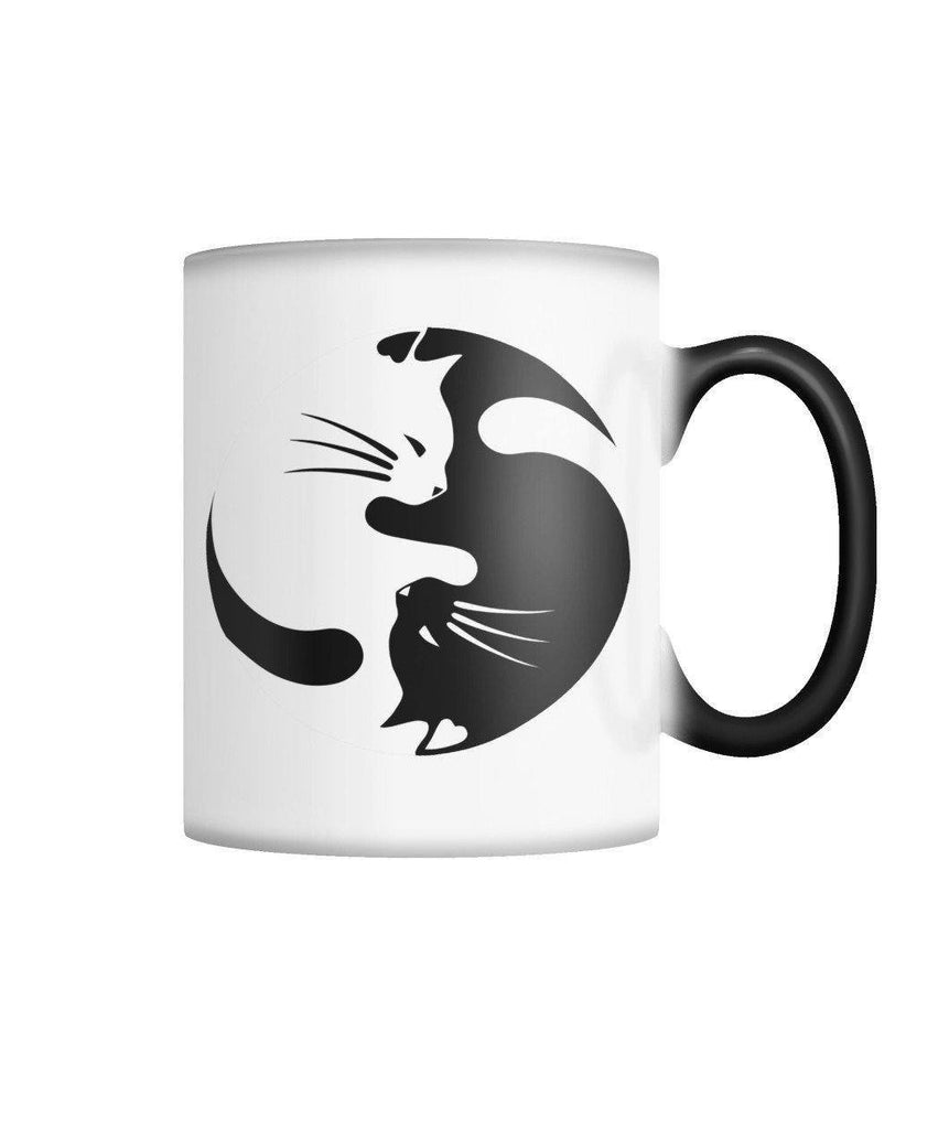 "Limited Edition ""Yinyang Cat"" Color Changing Mug Non Apparel ViralStyle White M"