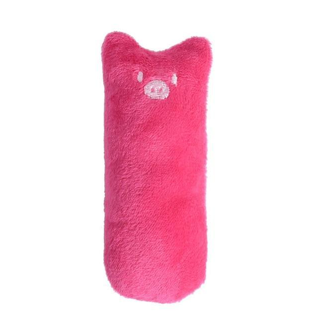 Lovely Animal Shaped Plush Catnip Toy Cat Toys Pet Clever Rose Red