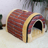 Lovely Circular Soft Cat and Dog Bed Pet House Dog Beds & Blankets Pet Clever Color B S