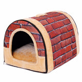 Lovely Circular Soft Cat and Dog Bed Pet House Dog Beds & Blankets Pet Clever
