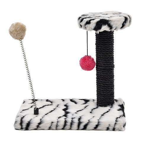 Lovely Multi-layer Cat Climbing Scratch Board Cat Trees & Scratching Posts Pet Clever Zebra
