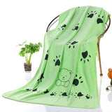 Microfiber Strong Absorbing Pet Towel Towels Pet Clever Green
