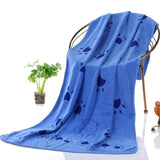 Microfiber Strong Absorbing Pet Towel Towels Pet Clever Blue