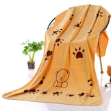 Microfiber Strong Absorbing Pet Towel Towels Pet Clever Brown